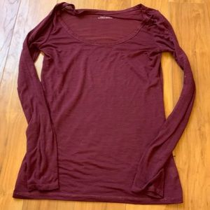 AOE Burgundy Long Sleeve Tee